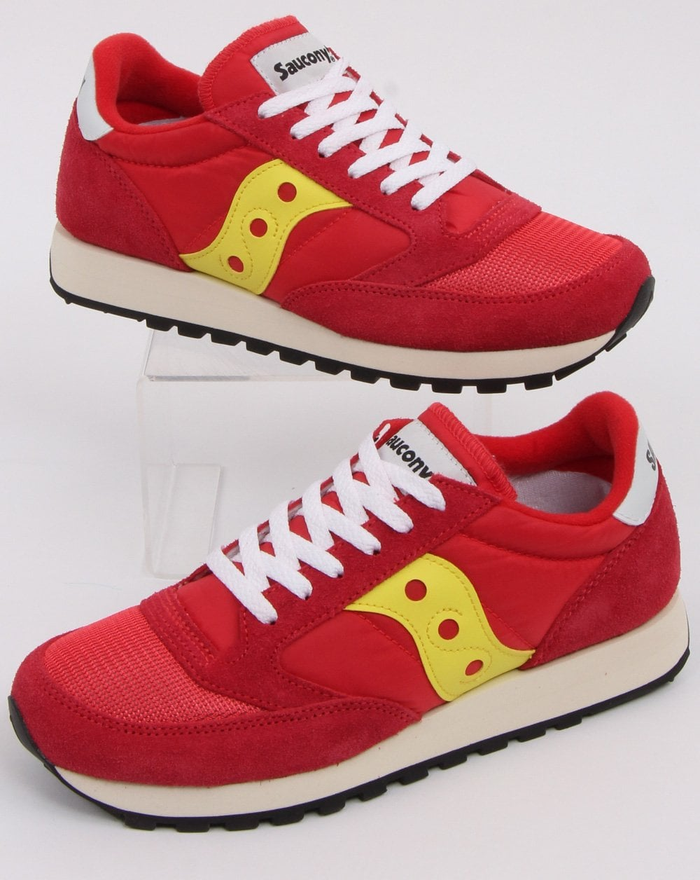 autumn shoes the best fast delivery Saucony Jazz Vintage Trainers Red/Yellow | 80s casual classics