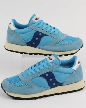 Saucony Jazz Original Vintage Trainers Sky Blue/Navy