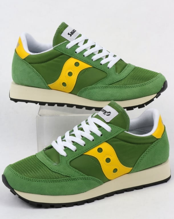 Saucony JAZZ ORIGINAL VINTAGE - Trainers - treetop/yellow Fuz4P