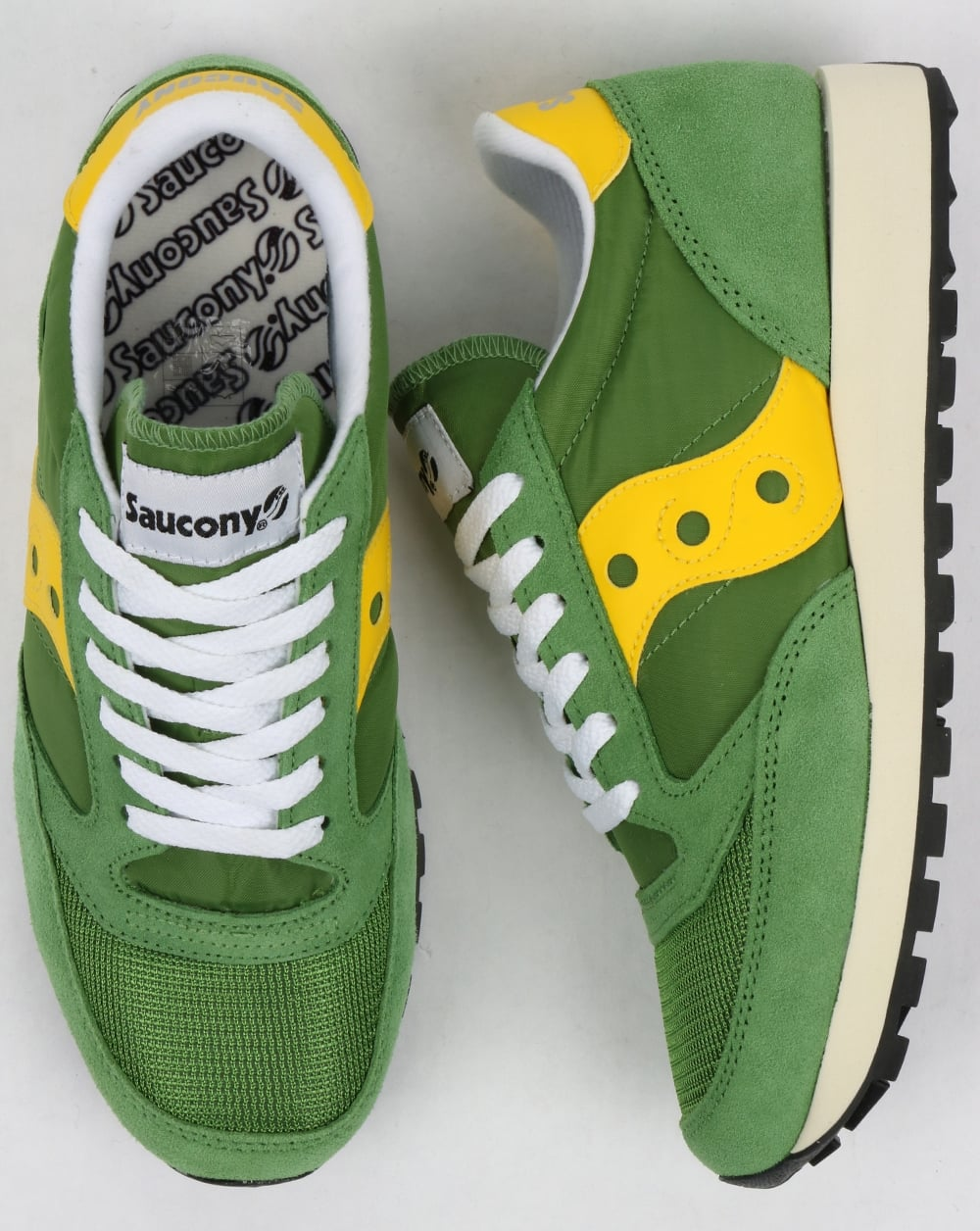 saucony jazz green yellow