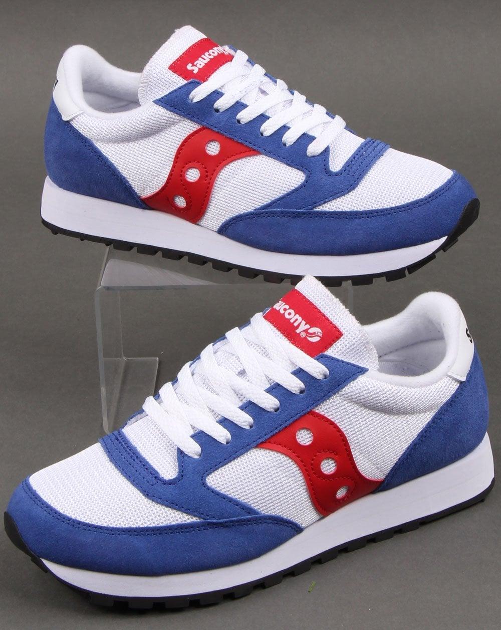 purchase cheap ea510 ec53d Saucony Jazz Original Vintage Trainers White/Blue/Red