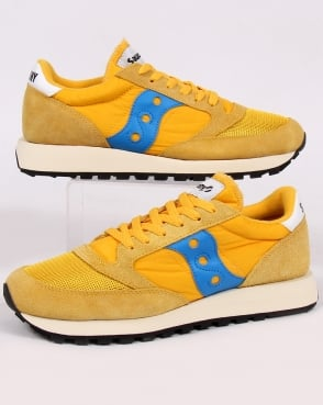 Saucony Jazz Original Vintage Trainers Yellow/navy