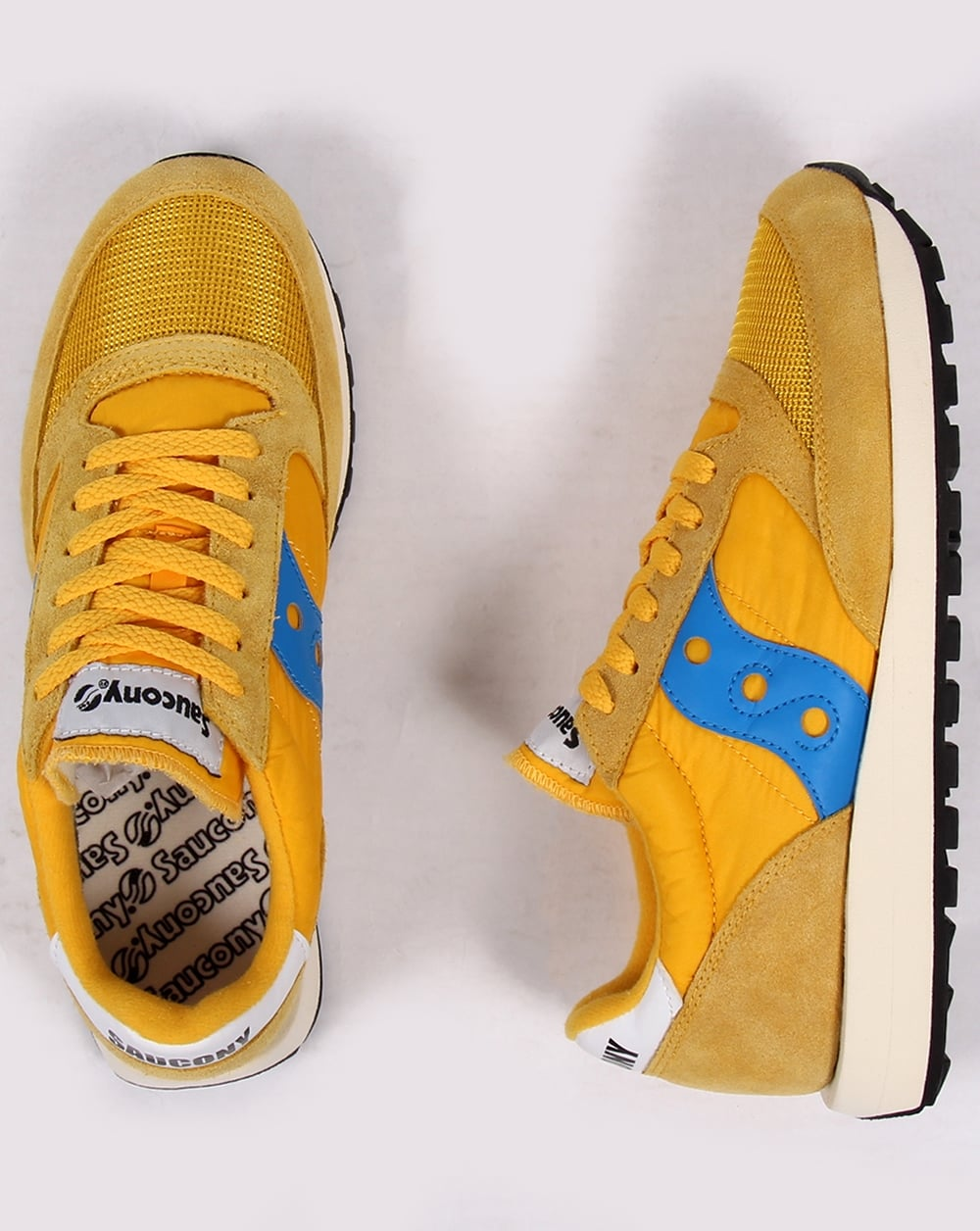 d3007f40 Saucony Jazz Original Vintage Trainers Yellow/navy