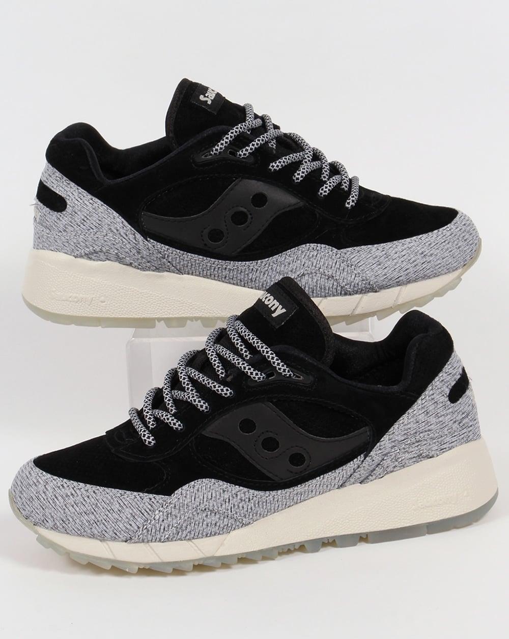 b31d94a12cbb Saucony Saucony Shadow 6000 Dirty Snow II Trainers Grey Black