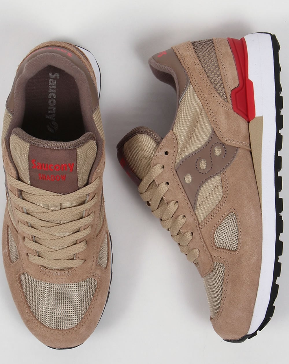 best sneakers bebeb 1073b Saucony Shadow Original Trainers Beige/Red