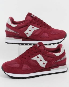 Saucony Shadow Original Trainers Burgundy