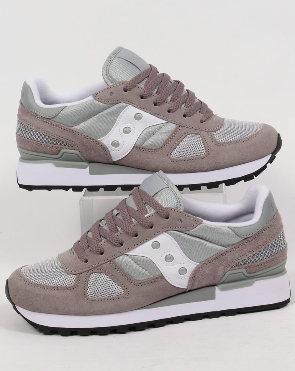 cheap for discount 4b7a1 782d3 Saucony Shadow Original Trainers Grey/White