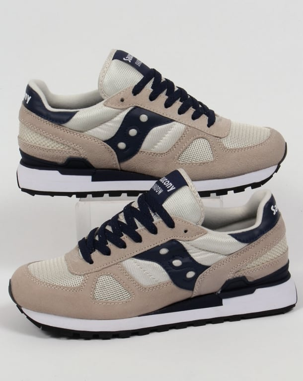 Saucony Shadow Original Trainers Tan/Navy