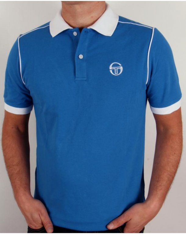 Sergio Tacchini Ace Polo Shirt Royal Blue