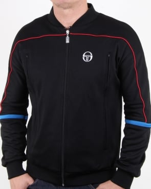 Sergio Tacchini Amiscora Track Top Black/royal Blue