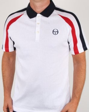 Sergio Tacchini Blow Polo Shirt White/navy/red