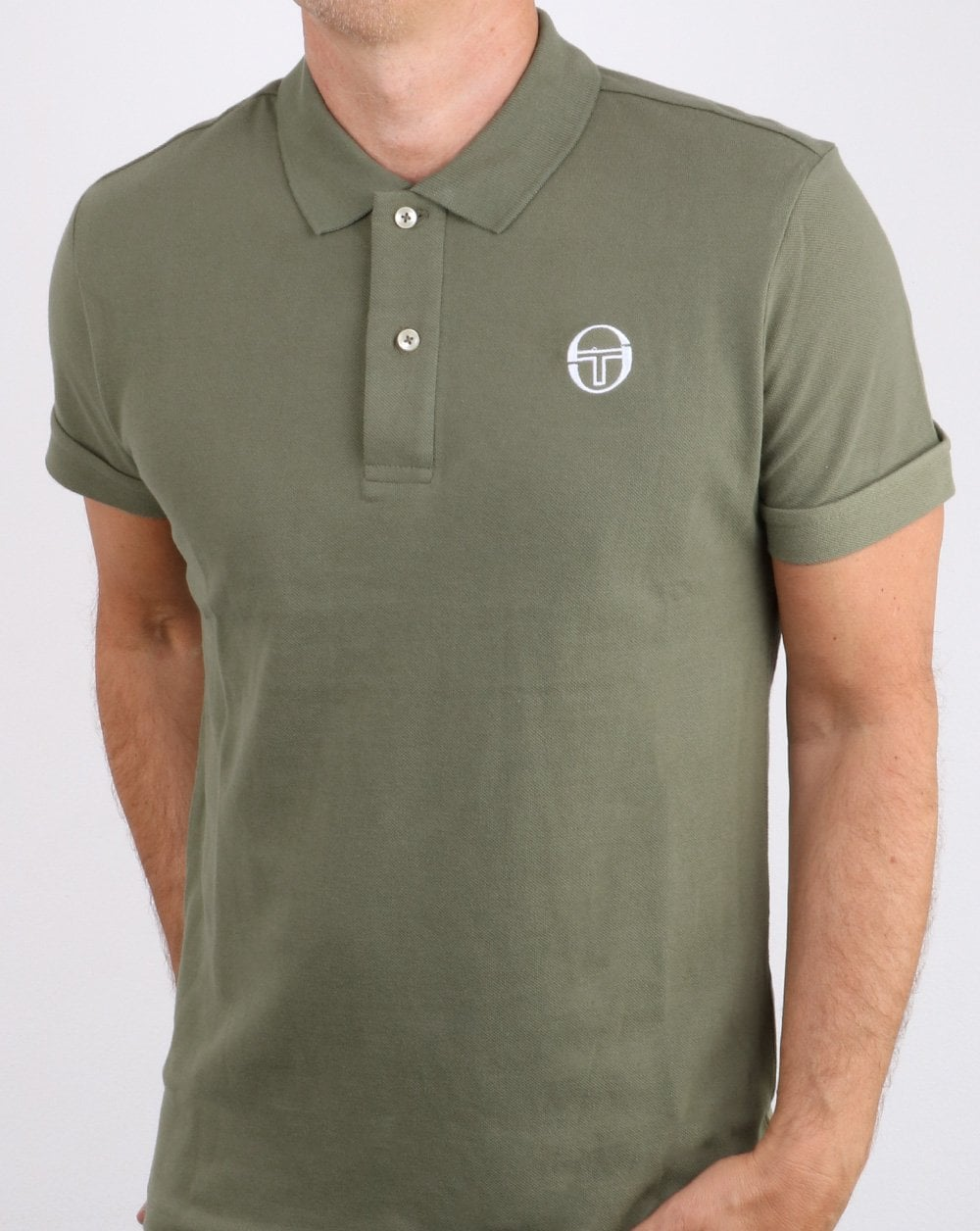 35978ce9 Sergio Tacchini, Classic Polo Shirt, Olive/white, Mens, Smart, Cotton