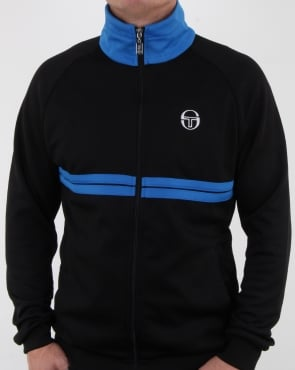 Sergio Tacchini Dallas Track Top Black/royal Blue