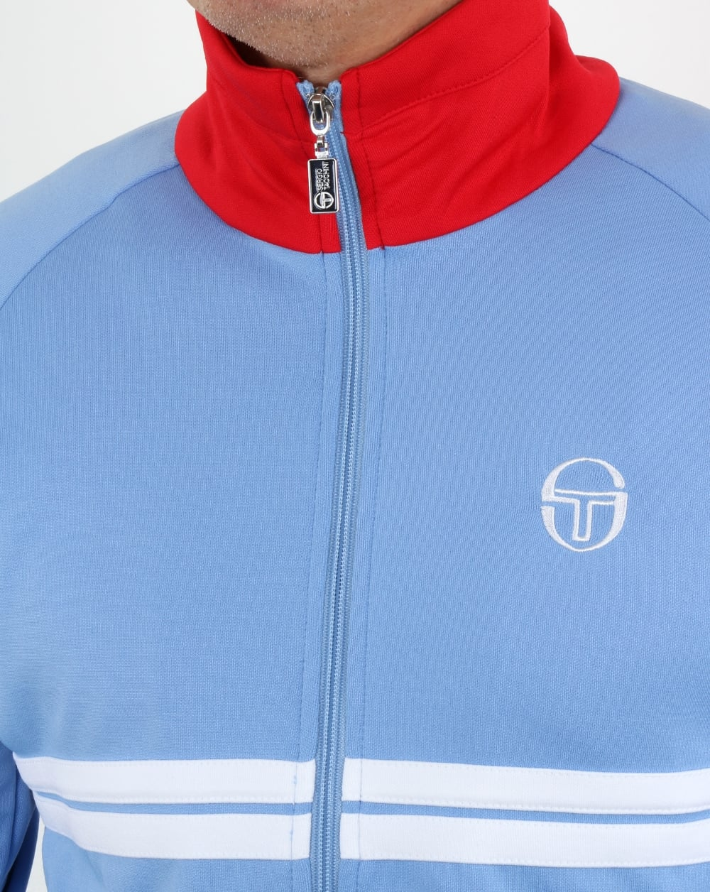 73d71146e7681 Sergio Tacchini Dallas Track Top Sky/Red/White | 80s casual classics