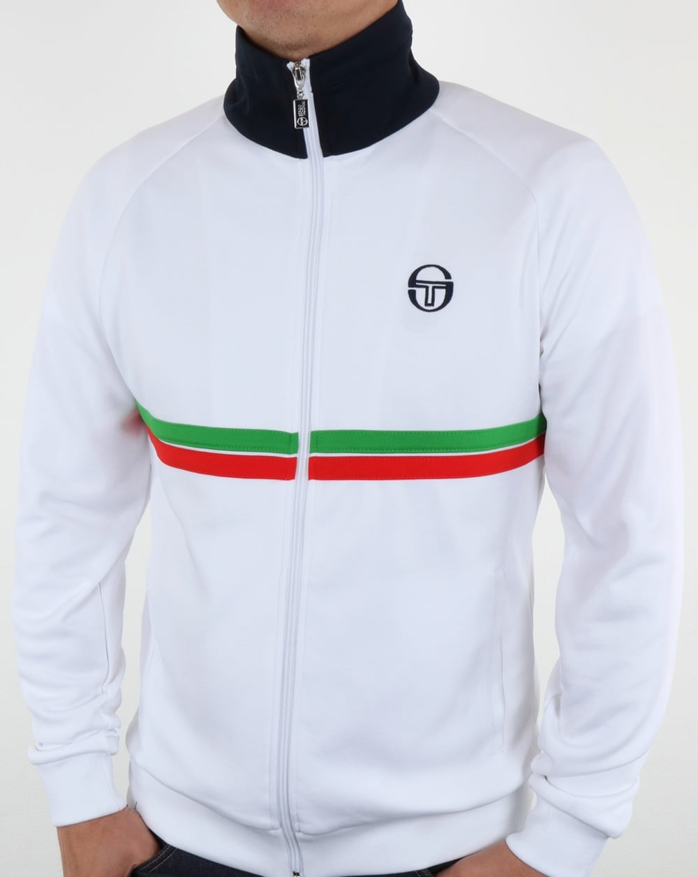 05fdd354eab3 Sergio Tacchini Dallas Track Top White/Green/Red,tracksuit,jacket,mens