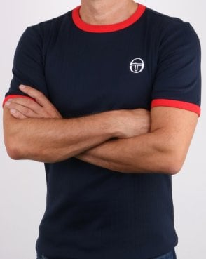 Sergio Tacchini Drop T-shirt Navy/red