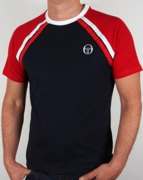 Sergio Tacchini Ghibli T-shirt Navy/White/Red