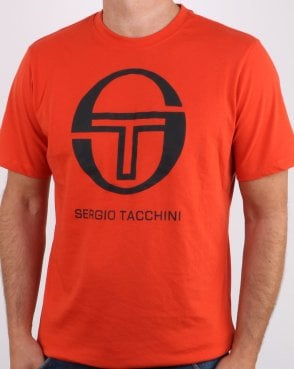 Sergio Tacchini Iberis T-shirt Red Clay/black