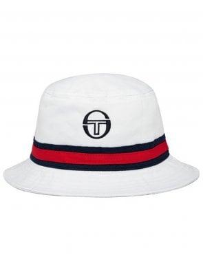 Sergio Tacchini Ivo Bucket Hat White navy 334b547e168d