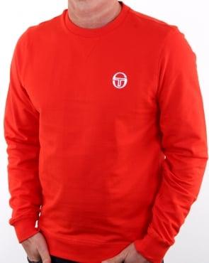 Sergio Tacchini Logo Sweatshirt Fiery Red/white