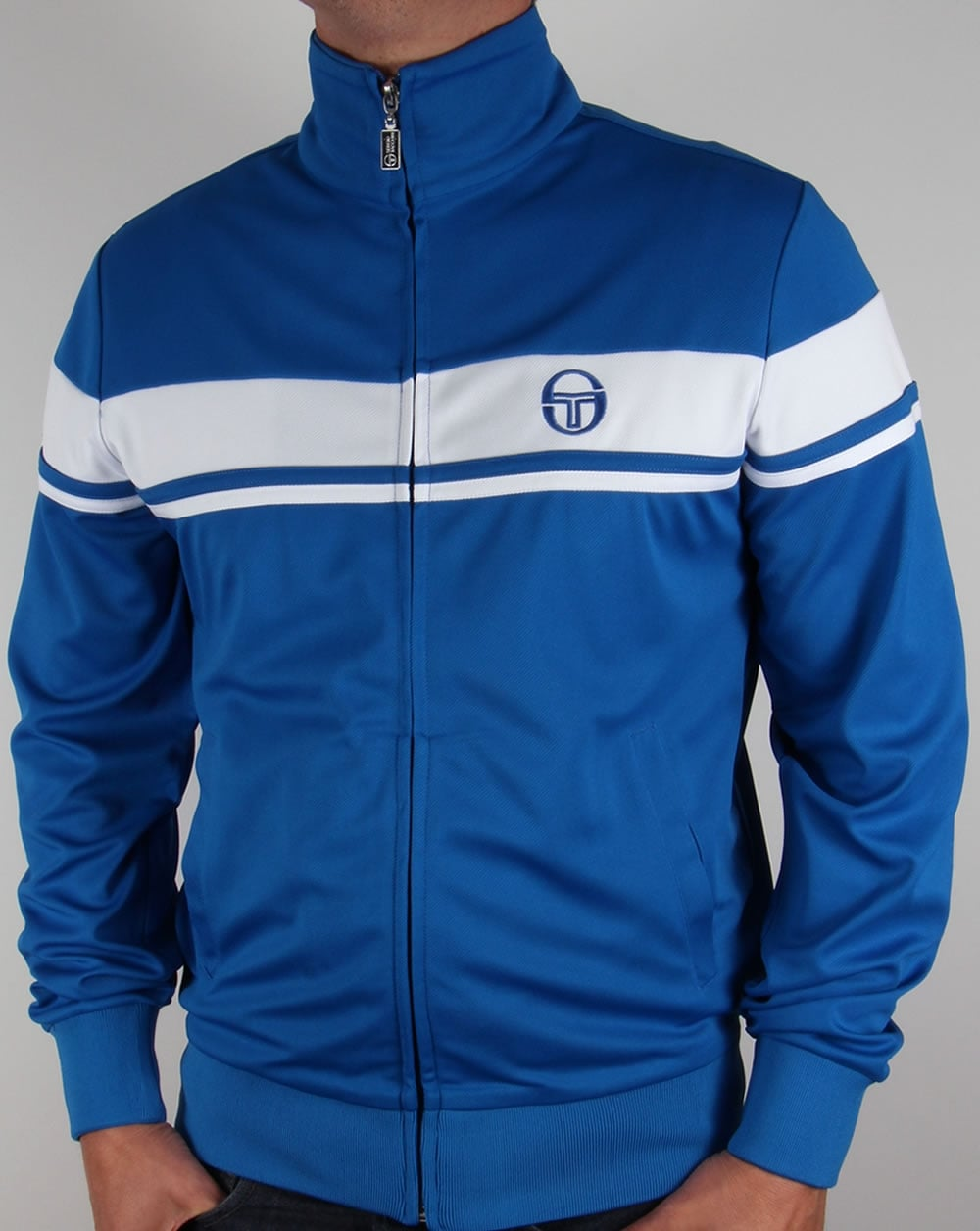 sergio tacchini masters ii track top royal white tracksuit jacket mens. Black Bedroom Furniture Sets. Home Design Ideas