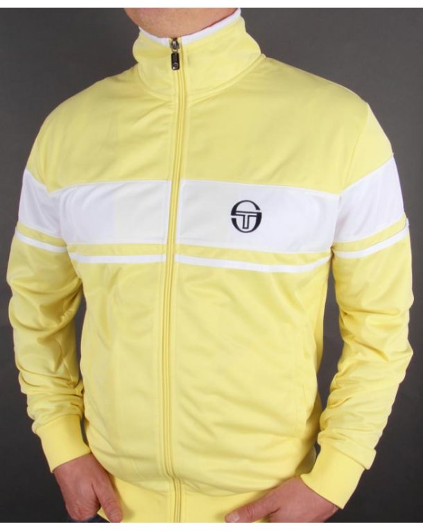 sergio tacchini masters mcenroe track top yellow tracksuit. Black Bedroom Furniture Sets. Home Design Ideas