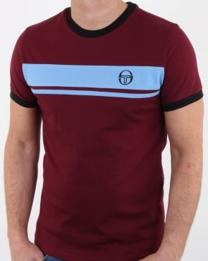 Sergio Tacchini Masters T Shirt Reddish/sky Blue