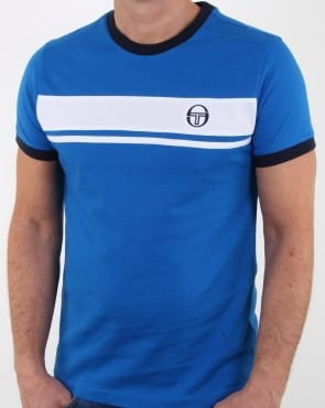 Sergio Tacchini Masters T Shirt Royal/white