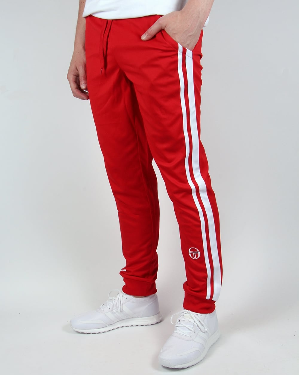 Sergio Tacchini Masters Track Bottoms Red White Pants