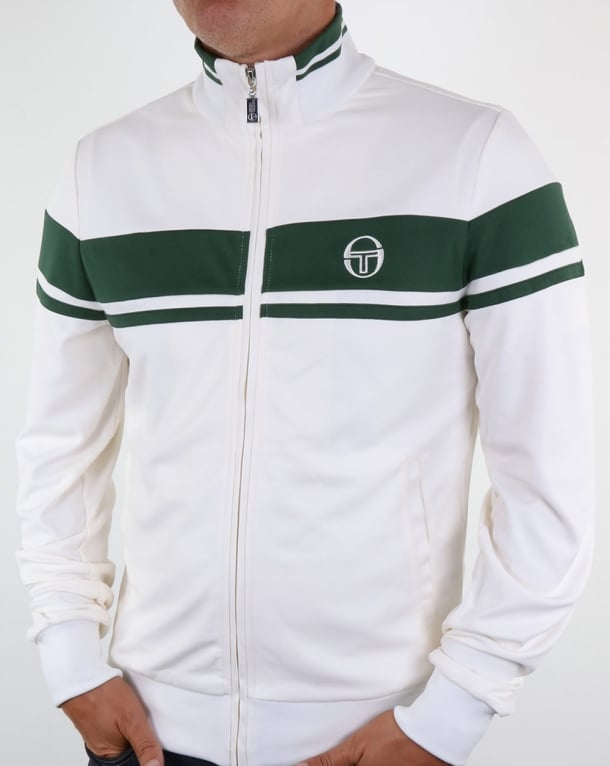 Sergio Tacchini Masters Track Top Ivory/forest Green