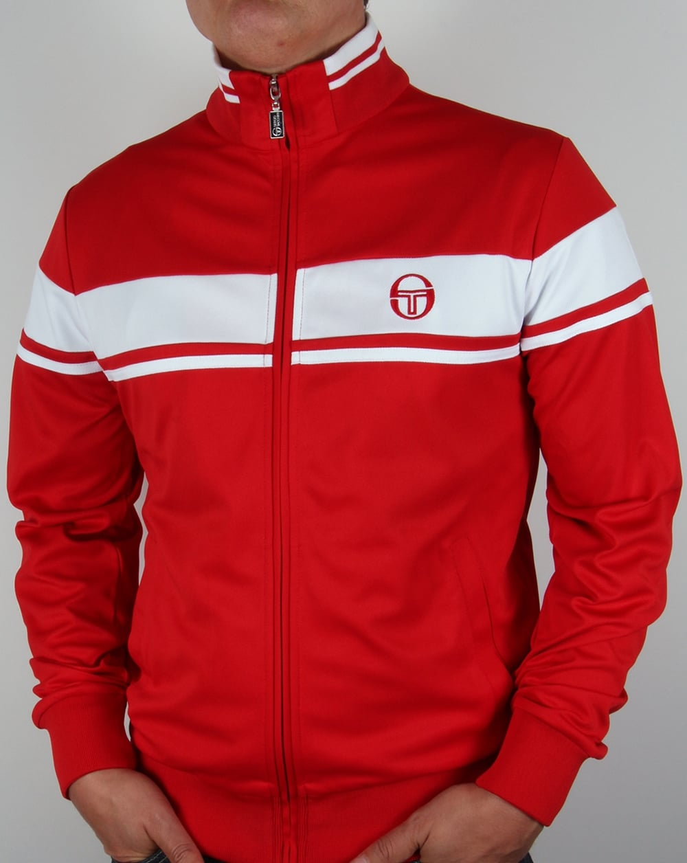 sergio tacchini masters track top red white tracksuit. Black Bedroom Furniture Sets. Home Design Ideas