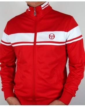 Sergio Tacchini Masters Track Top Red/White