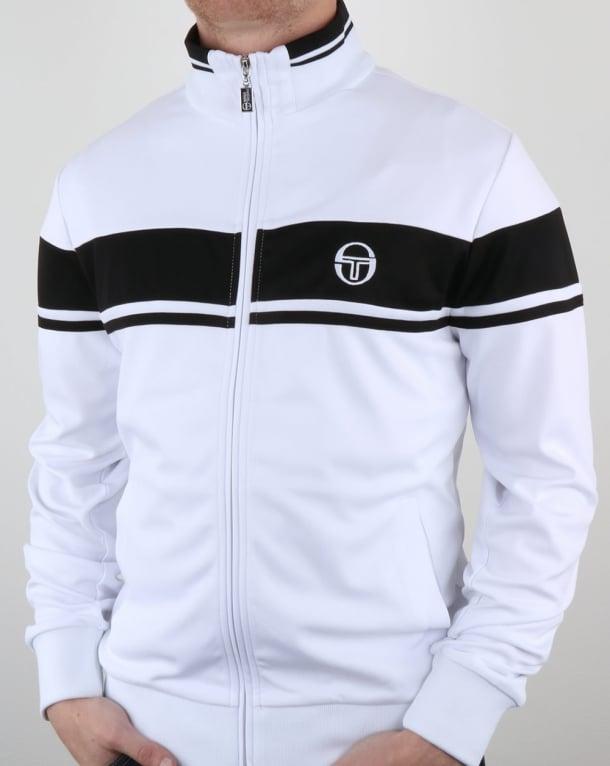 Sergio Tacchini Masters Track Top White Black Tracksuit Jacket