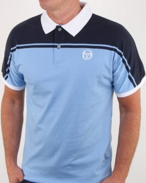 Sergio Tacchini New Young Line Polo Shirt Sky Blue/navy