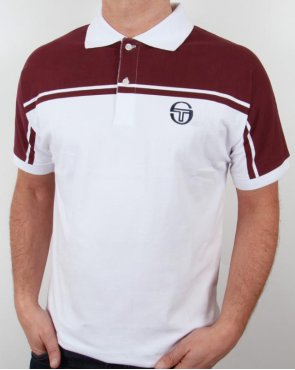 Sergio Tacchini New Young Line Polo Shirt White/burgundy