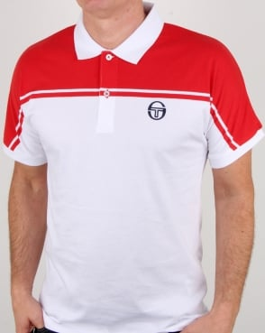 Sergio Tacchini New Young Line Polo Shirt White/red