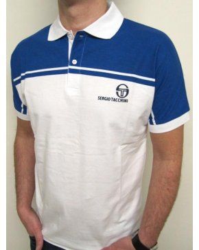 Sergio Tacchini New Young Line Polo Shirt White/royal Blue