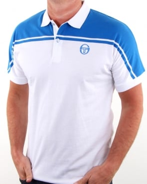 Sergio Tacchini New Young Line Polo Shirt White/royal