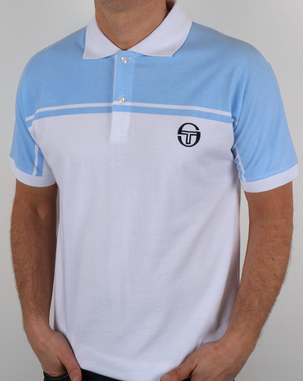 9a96ca36 Sergio Tacchini Sergio Tacchini New Young Line Polo Shirt White/sky Blue