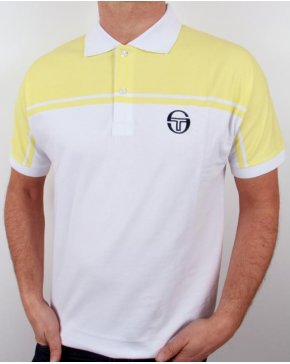 Sergio Tacchini New Young Line Polo Shirt White/yellow