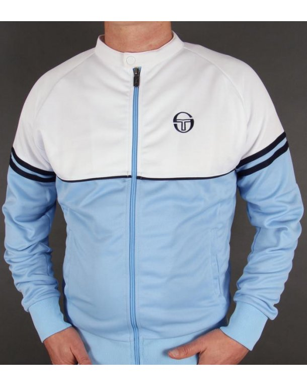 Sergio Tacchini Orion Biker Track Top Sky Blue/white