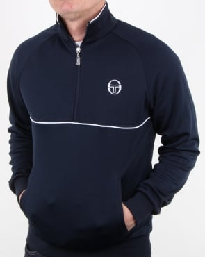 Sergio Tacchini Orion Half Zip Track Top Navy/White
