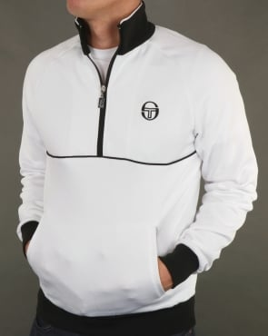 Sergio Tacchini Orion Half Zip Track Top White/Black