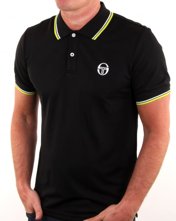 Sergio Tacchini Reed Polo Shirt Black/white
