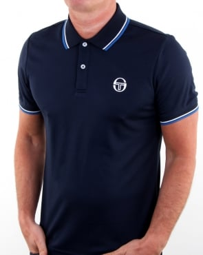 Sergio Tacchini Reed Polo Shirt Navy/white