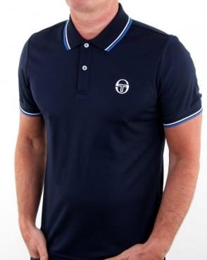 Sergio Tacchini Reed Polo Shirt Navy/white