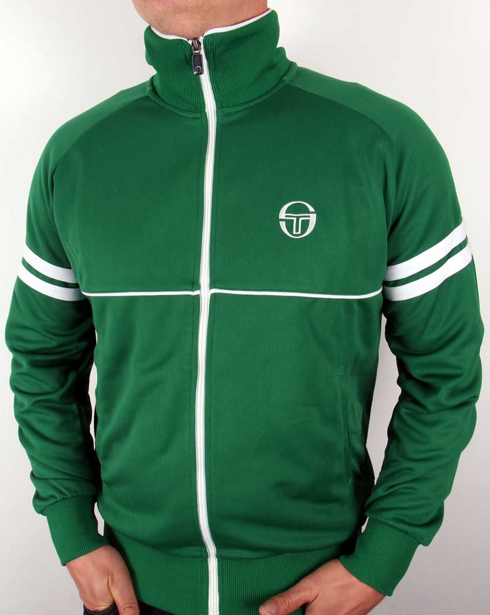 sergio tacchini star track top green star tracksuit top. Black Bedroom Furniture Sets. Home Design Ideas