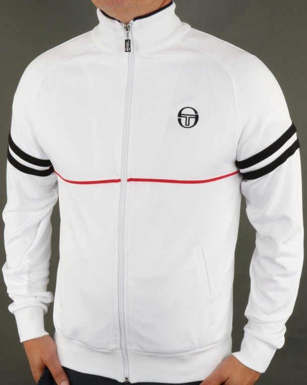 04374885 Sergio Tacchini Star Track Top White/Red,tracksuit,jacket,mens