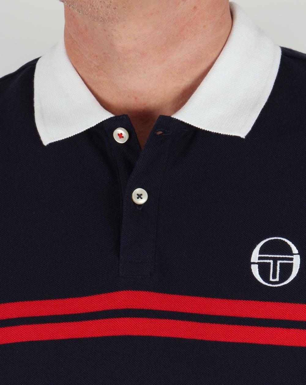 a7c1865d Sergio Tacchini Super Mac Polo Shirt Navy/White/Red,mens,mcenroe,sport