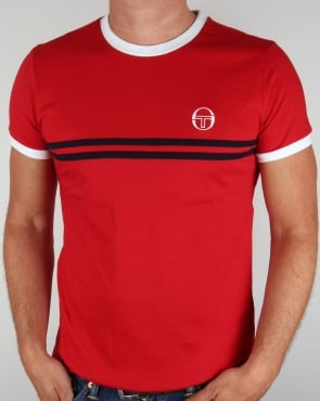 Sergio Tacchini Super Mac T-shirt Red/White